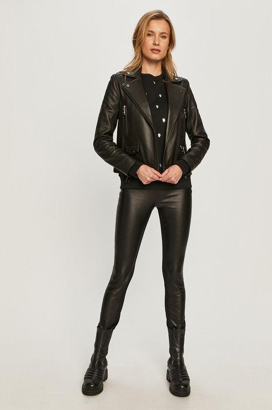 Karl Lagerfeld - Ramoneska skórzana czarny