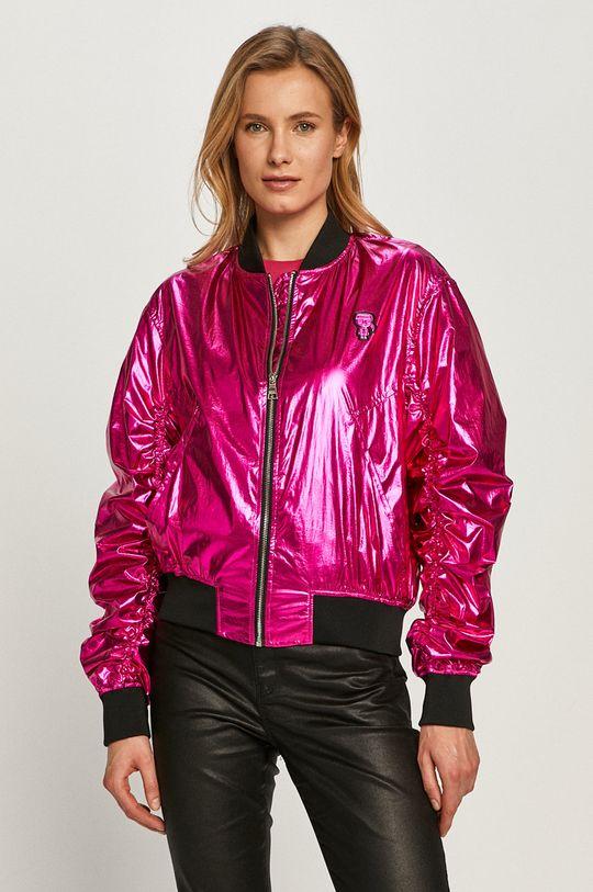 różowy Karl Lagerfeld - Kurtka bomber Damski
