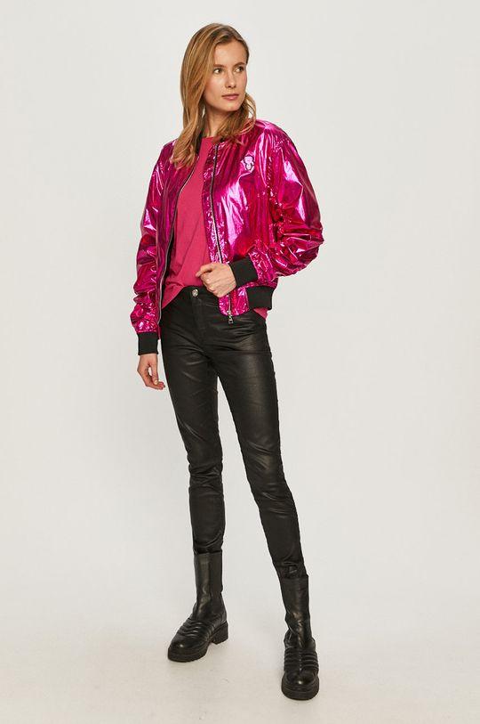 Karl Lagerfeld - Kurtka bomber różowy