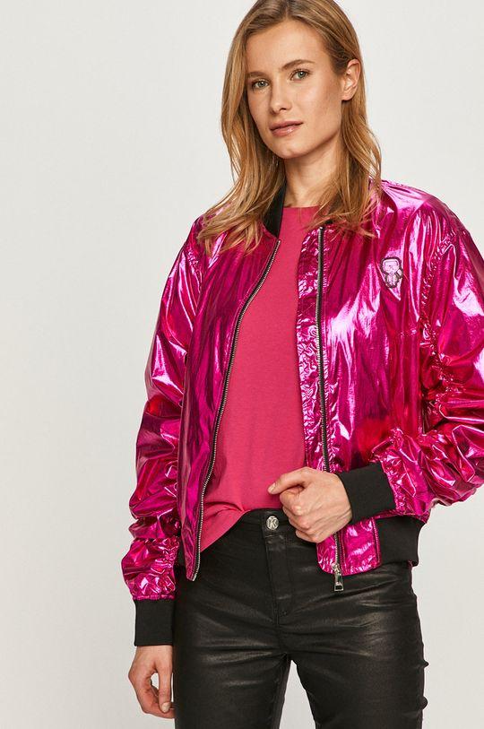różowy Karl Lagerfeld - Kurtka bomber