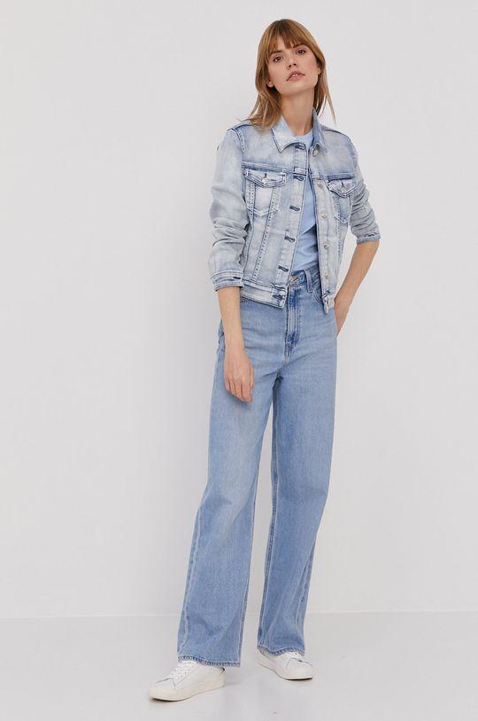 Hugo - Kurtka jeansowa jasny niebieski