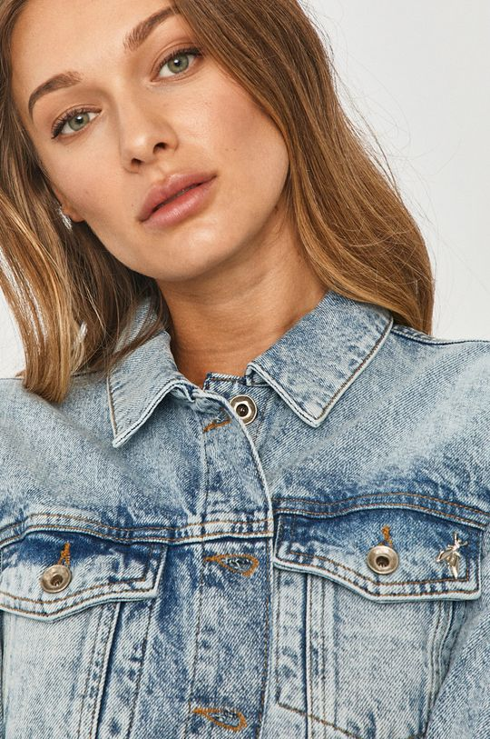 jasny niebieski Patrizia Pepe - Kurtka jeansowa