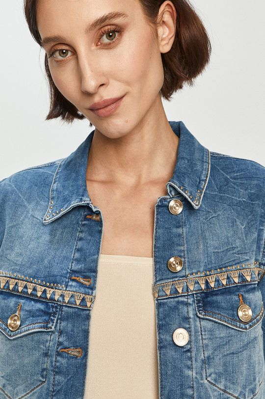 niebieski Mos Mosh - Kurtka jeansowa