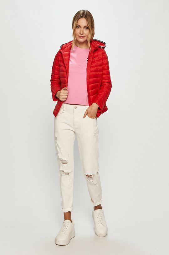 Tommy Hilfiger - Páperová bunda červená