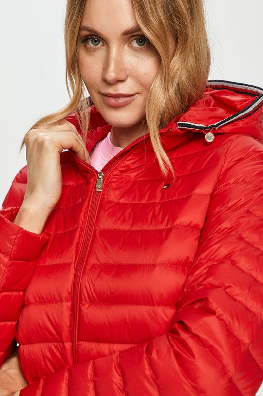 červená Tommy Hilfiger - Páperová bunda