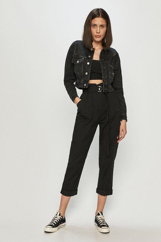 czarny Tommy Jeans - Kurtka jeansowa Damski