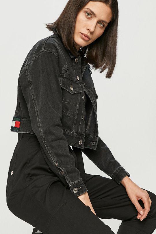 czarny Tommy Jeans - Kurtka jeansowa