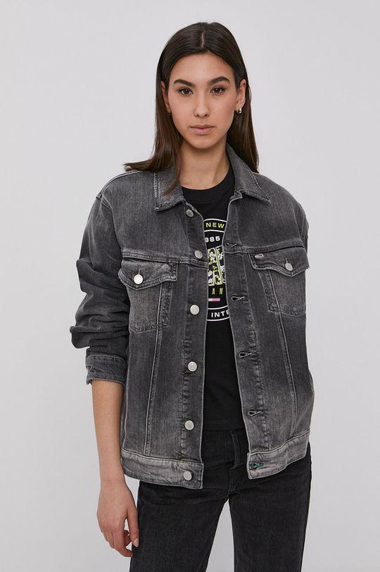 šedá Tommy Jeans - Džínová bunda Dámský