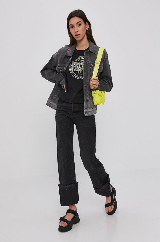 Tommy Jeans - Džínová bunda šedá