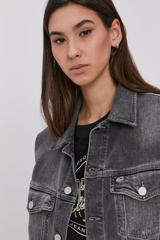šedá Tommy Jeans - Džínová bunda