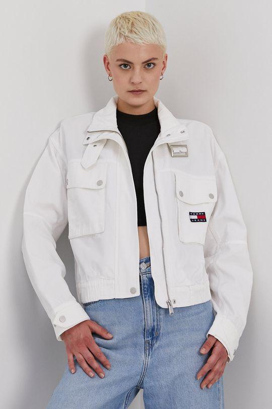 biela Tommy Jeans - Rifľová bunda Dámsky