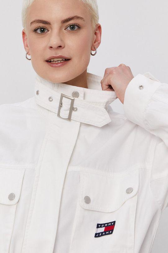 biela Tommy Jeans - Rifľová bunda
