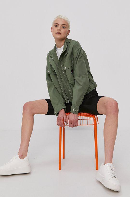 Tommy Jeans - Kurtka brązowa zieleń