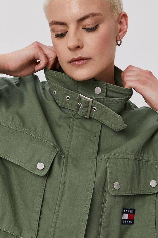 brązowa zieleń Tommy Jeans - Kurtka