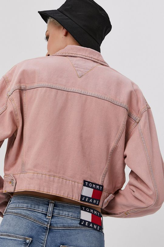Tommy Jeans - Rifľová bunda  99% Bavlna, 1% Elastan