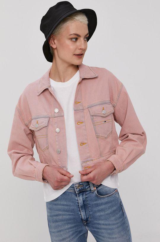 ružová Tommy Jeans - Rifľová bunda