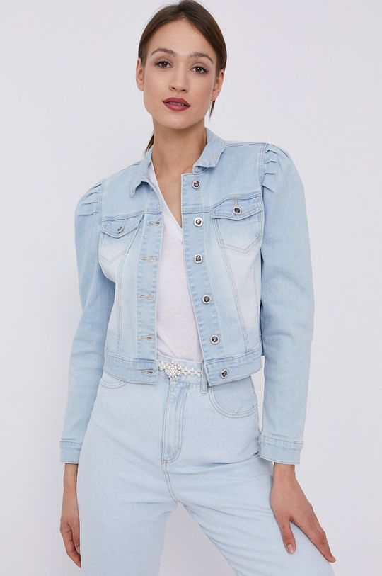Morgan - Kurtka jeansowa jasny niebieski