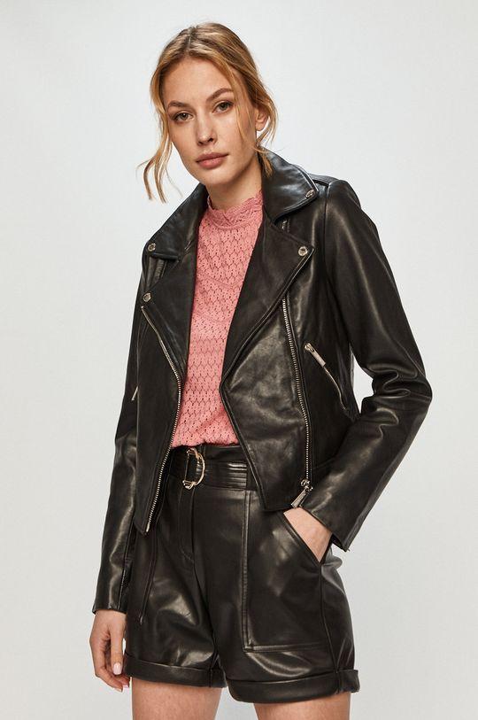 čierna Morgan - Kožená bunda Dámsky