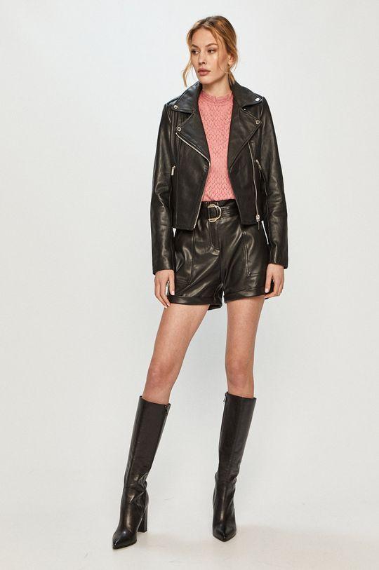 Morgan - Kožená bunda čierna