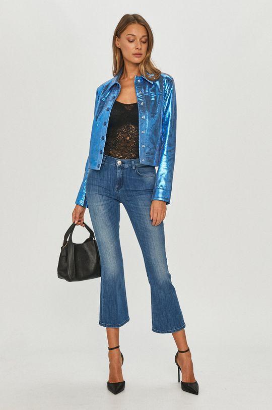 Pinko - Kožená bunda modrá