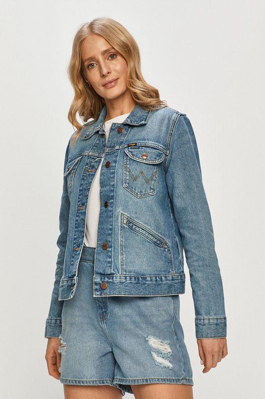 niebieski Wrangler - Kurtka jeansowa Damski