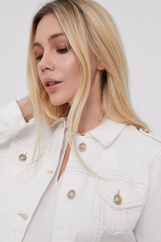 biały Morgan - Kurtka jeansowa