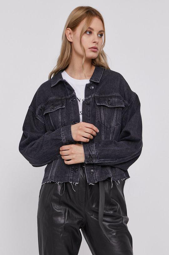 černá AllSaints - Džínová bunda Dámský