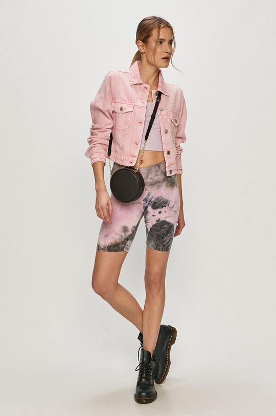 Brave Soul - Džínová bunda růžová