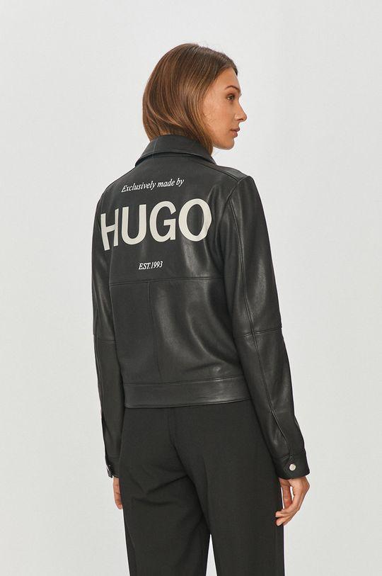 Hugo - Kožená ramoneska  Podšívka: 100% Polyester Hlavní materiál: 100% Přírodní kůže Podšívka kapsy: 100% Bavlna