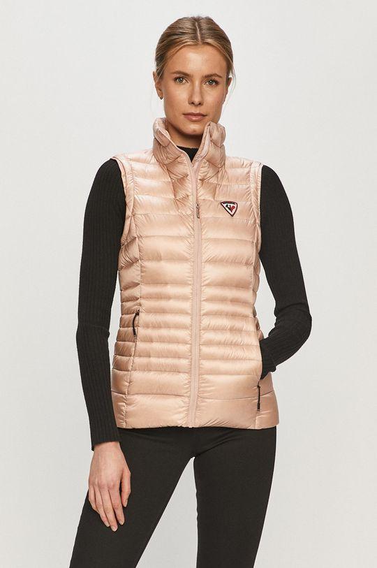 pastelově růžová Rossignol - Péřová vesta Dámský