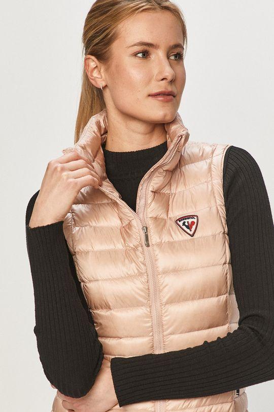 pastelově růžová Rossignol - Péřová vesta