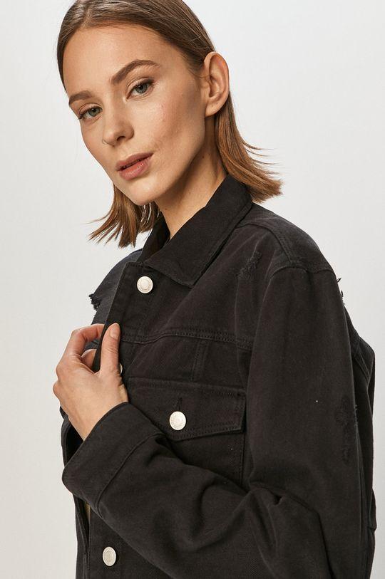 czarny Tally Weijl - Kurtka jeansowa
