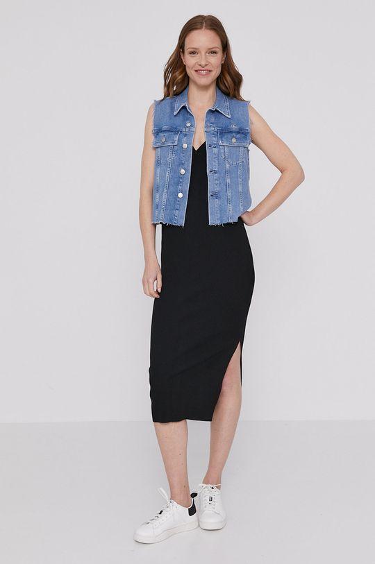 Calvin Klein Jeans - Bezrękawnik jeansowy niebieski