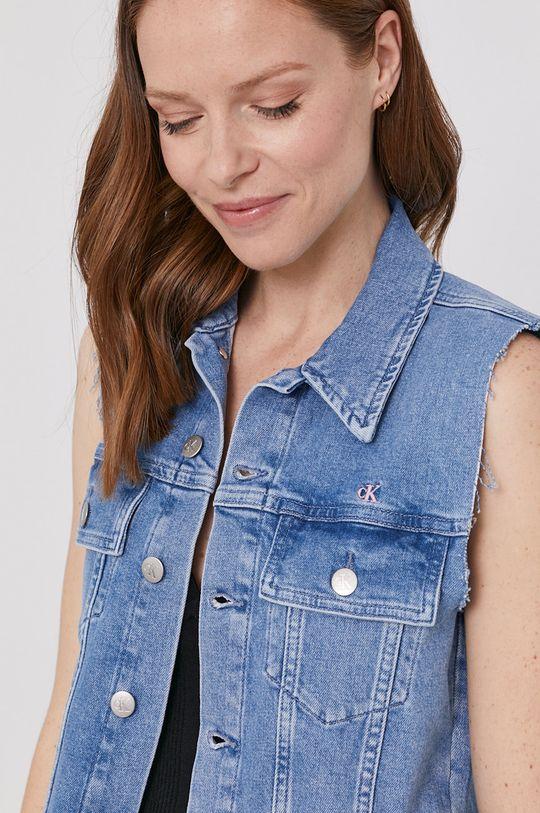 niebieski Calvin Klein Jeans - Bezrękawnik jeansowy