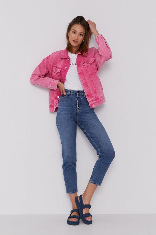 różowy Calvin Klein Jeans - Kurtka jeansowa Damski