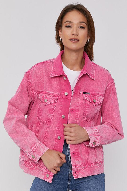 Calvin Klein Jeans - Kurtka jeansowa różowy