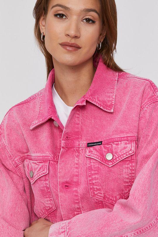 różowy Calvin Klein Jeans - Kurtka jeansowa