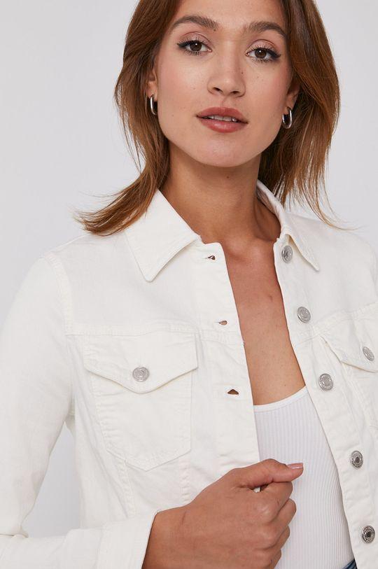 bílá United Colors of Benetton - Džínová bunda