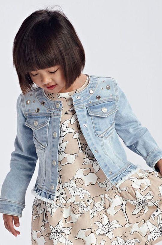 blady niebieski Mayoral - Kurtka jeansowa dziecięca Dziewczęcy