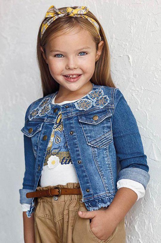 winogronowy Mayoral - Kurtka jeansowa dziecięca Dziewczęcy