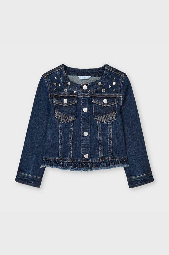 granatowy Mayoral - Kurtka jeansowa dziecięca Dziewczęcy