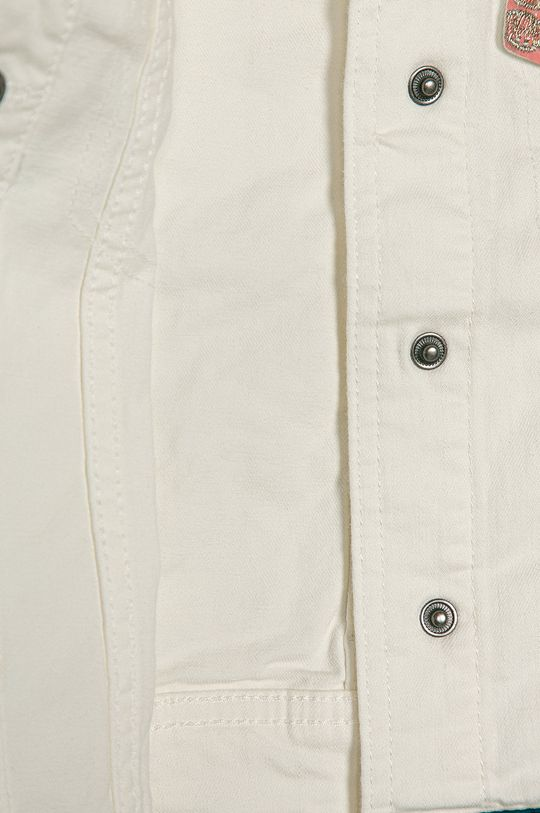Desigual - Kurtka jeansowa dziecięca 104-164 cm Materiał 1: 65 % Bawełna, 2 % Elastan, 33 % Modal, Materiał 2: 70 % Bawełna, 1 % Elastan, 25 % Modal, 4 % Poliester