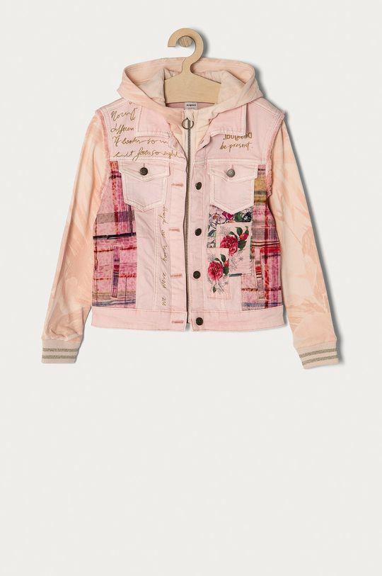 pastelově růžová Desigual - Dětská bunda 104-164 cm Dívčí