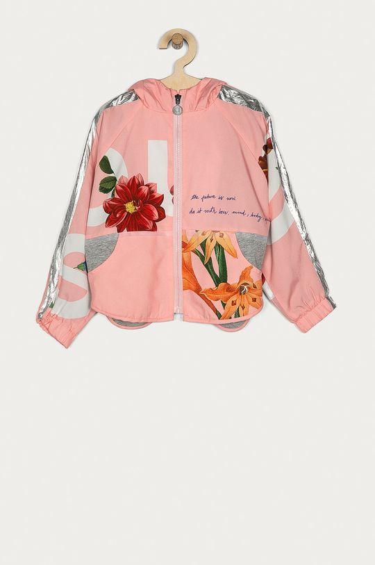 pastelowy różowy Desigual - Kurtka dziecięca Dziewczęcy