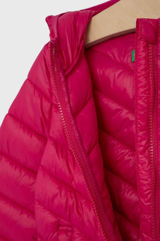 fuchsiová United Colors of Benetton - Dětská bunda