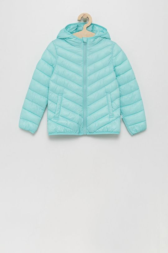 tyrkysová United Colors of Benetton - Dětská bunda Dívčí