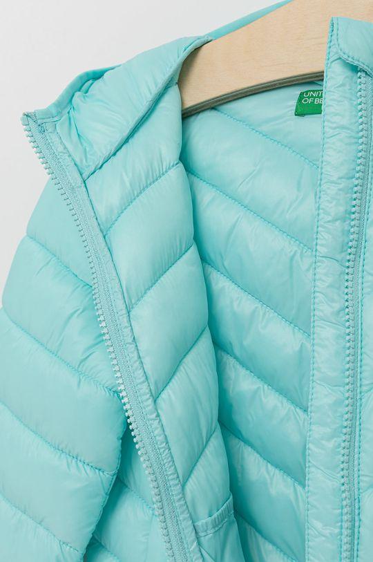tyrkysová United Colors of Benetton - Dětská bunda