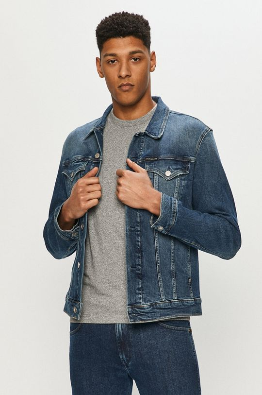 námořnická modř Calvin Klein Jeans - Džínová bunda Pánský