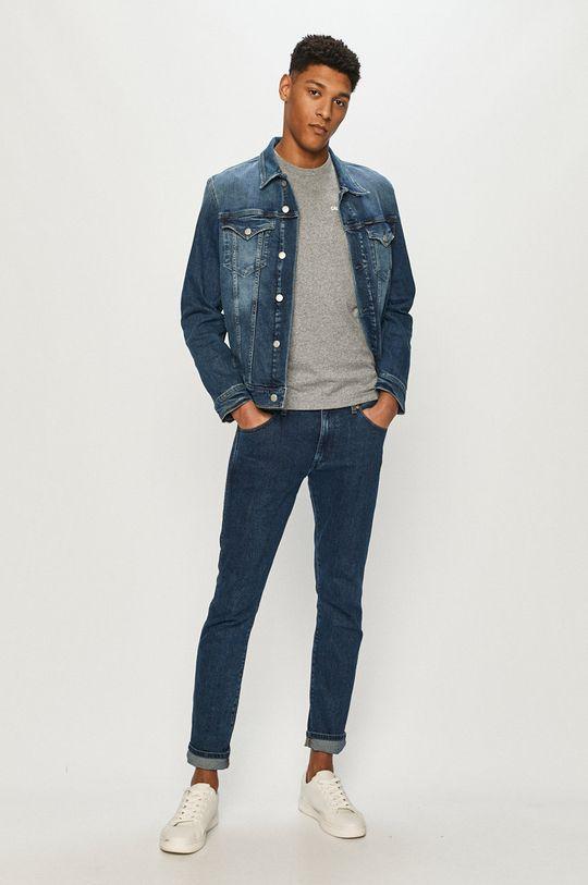 Calvin Klein Jeans - Džínová bunda námořnická modř