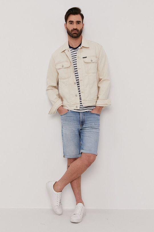 beżowy Calvin Klein Jeans - Kurtka jeansowa Męski